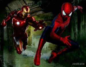 civil_war_movie___spider_man_vs_iron_man_by_zedkate-d7wdemd