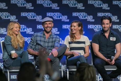 SAN JOSE, CA - AUGUST 28: Actors Charlotte Ross, Paul Blackthorne, Katie Cassidy and Colin Donnell attend the Archer panel during Heroes and Villains Fan Fest at San Jose Convention Center on August 28, 2016 in San Jose, California. (Photo by Bill Watters/Getty Images)